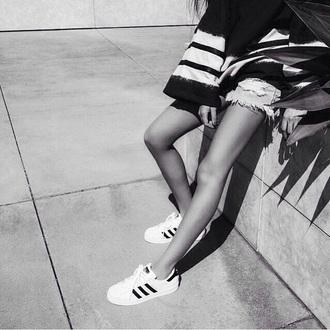 shoes adidas white black and white urban