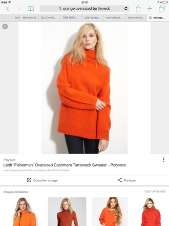 Orange Turtleneck Sweater - Shop for Orange Turtleneck Sweater on ...