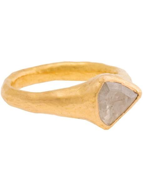 women ring gold ring gold white grey metallic jewels