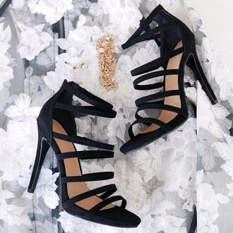 shoes heels black heels black shoes heel high heels strappy heels strappy gojane