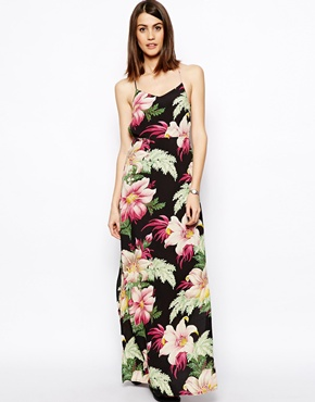ASOS | ASOS Maxi Dress In Hawaiian Print With Strappy Back at ASOS