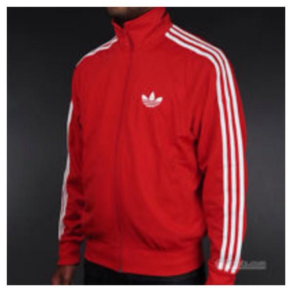 jacket adidas full zip up red jacket