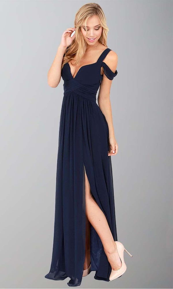 Navy blue maxi dress uk
