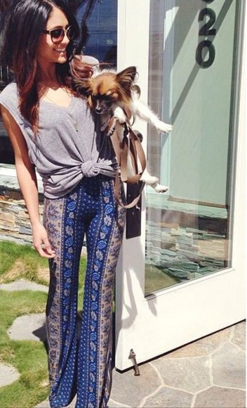 printed pants boho chic