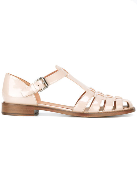Church's women sandals leather nude shoes
