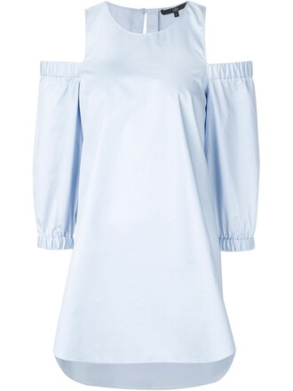 tunic women cold cotton blue top