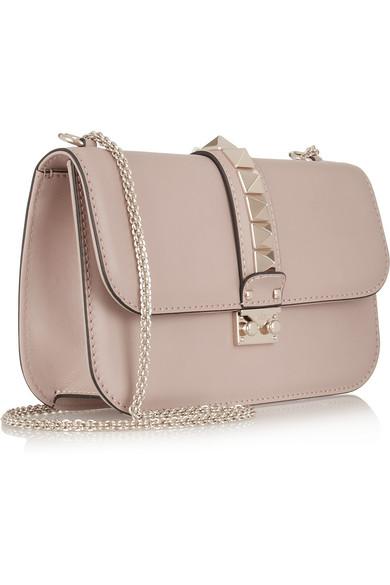 Valentino | Glam Lock leather shoulder bag | NET-A-PORTER.COM