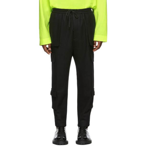 Juun.J Black Cargo Lounge Pants