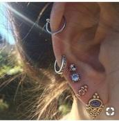 jewels,hippie,boho chic,earrings