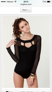 swimwear,black mesh bodysuit