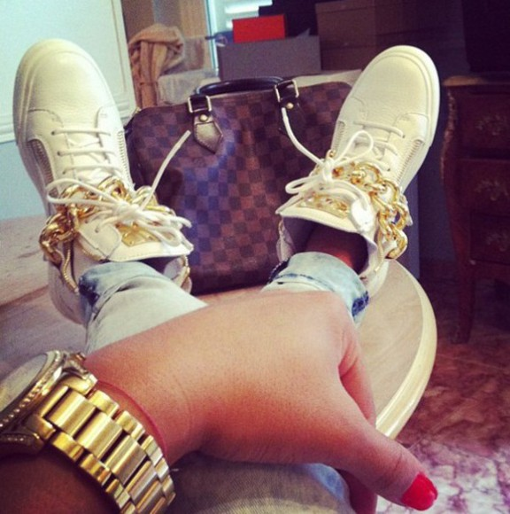 shoes jewels flat nike flats sneakers gz high tops giuseppe zanotti chain luxury adidas high top sneaker flat sneaker