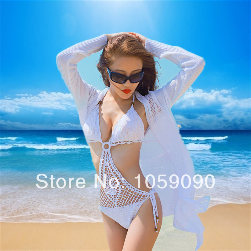 Aliexpress.com : Buy 2014 Handmade Women crochet beach swimwears cover up Sexy Crotchet Bikini Monokini hollow one pcs swimsuit Retail Bathing suit from Reliable suit tshirt suppliers on Vogue Official Online Shop