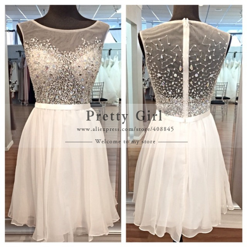 Aliexpress.com : buy 2015 vestido de festa curto sparkly crystal beading bodice see through back tank a line party dress short fancy cocktail dress from reliable dress khaki suppliers on pretty girl trade co., ltd