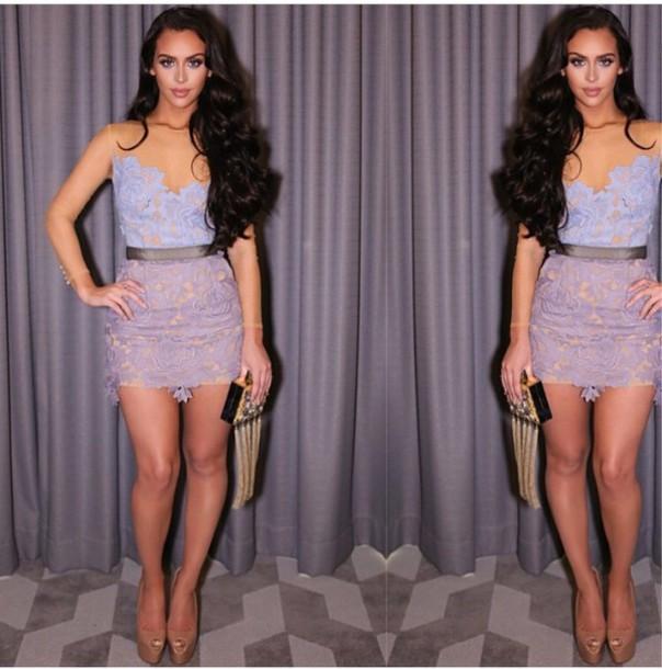 dress purple dress lace dress