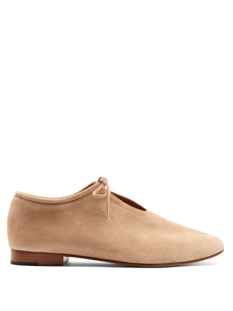 Martiniano flats suede nude shoes