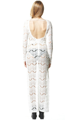LONG SLEEVE LACE COVER UP DRESS on The Hunt