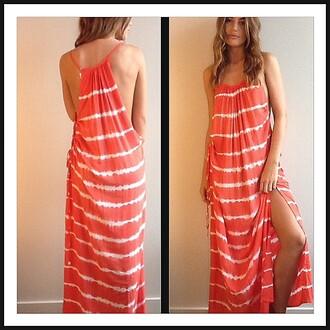 dress summer dress maxi dress boho tie dye tie dye dress hippie summer