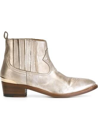 daisy boots metallic shoes