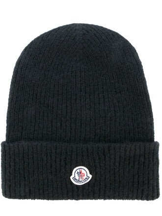 women classic hat beanie knitted beanie black wool