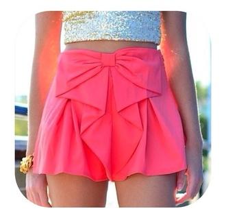 skirt pink bow beautiful