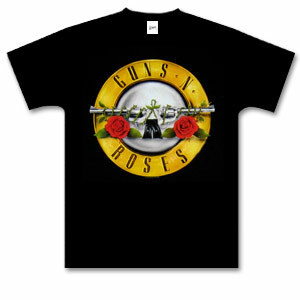 Guns N Roses T-Shirts  | Guns N' Roses Bullet Logo T-Shirt | Shop the Guns N Roses Official Store