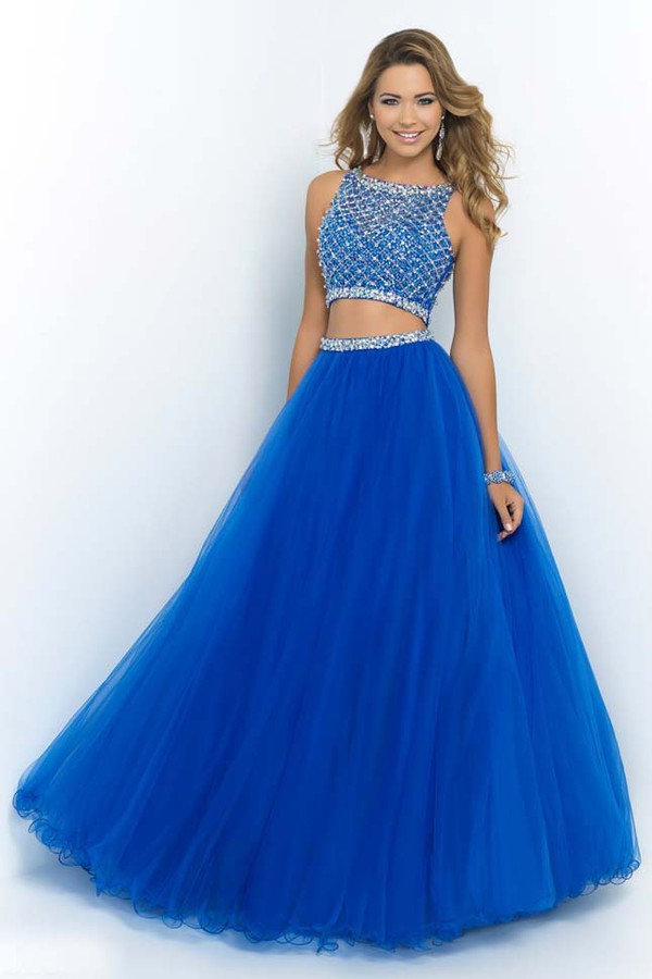 dress two piece tulle skirt blue dress diamonds. Black Bedroom Furniture Sets. Home Design Ideas