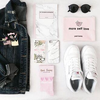 bag yeah bunny pouch pastel makeup bag make-up zipper pouch
