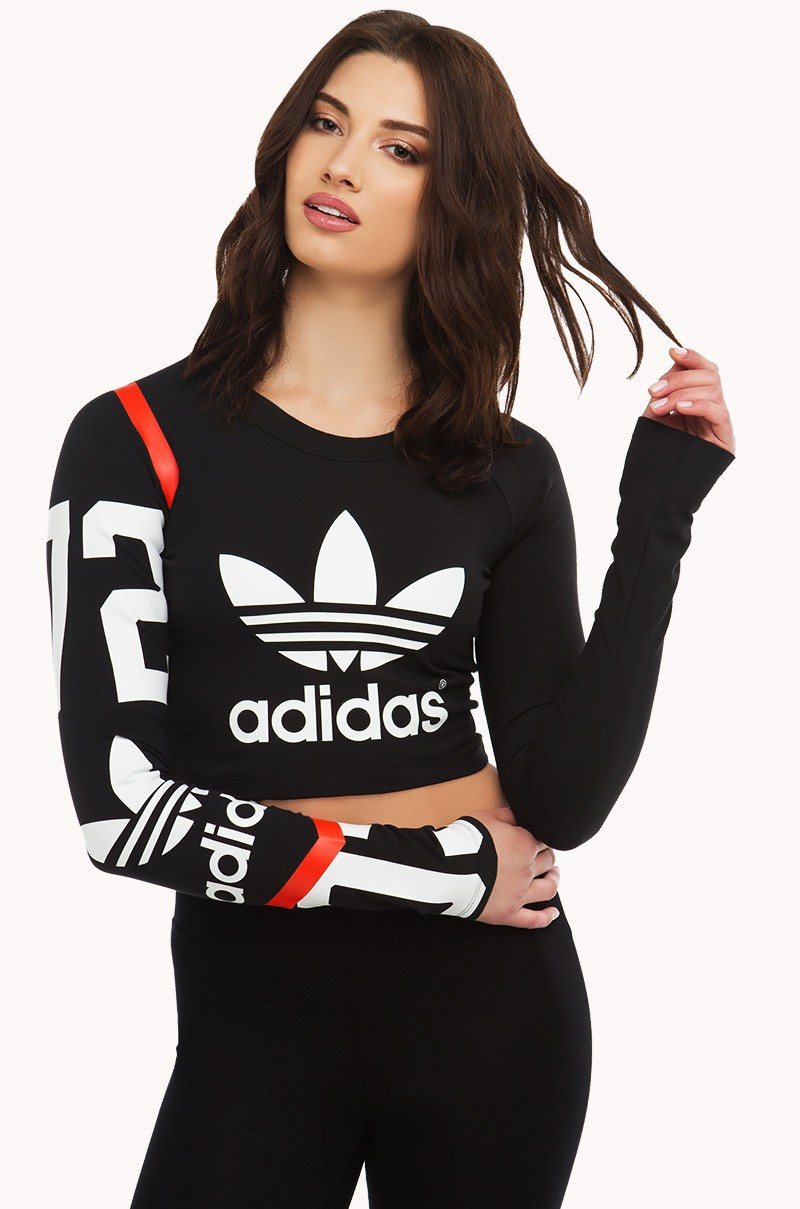 adidas Cropped W longsleeve black