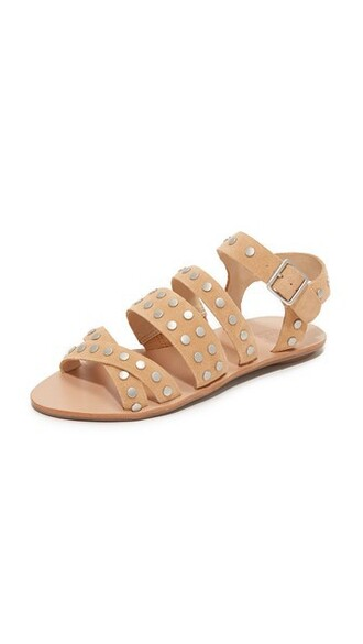 studded sandals flat sandals silver nude shoes