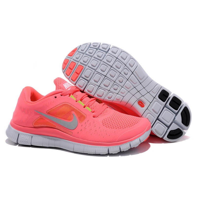 Nike Free Run 3 Womens Running Shoes Pink Gray on sale sale