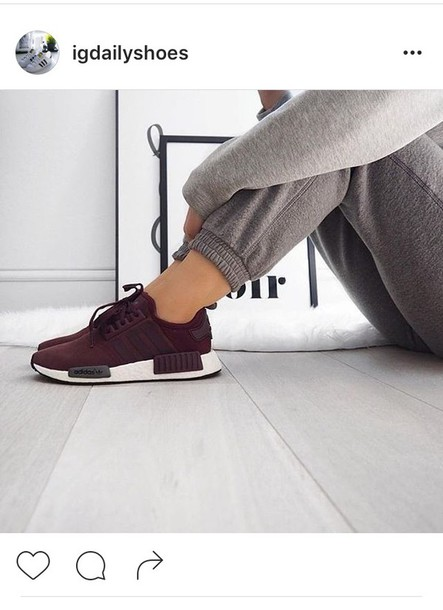 official photos 60001 e4c0c shoes adidas burgundy sneakers sweatpants grey pants burgundy shoes red  sneakers low top sneakers adidas shoes