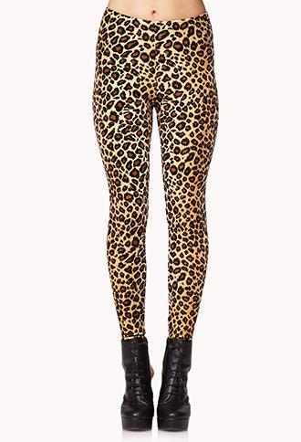 Wild Velveteen Leopard Leggings | FOREVER21 - 2079016674