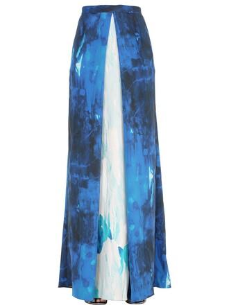 skirt chiffon skirt chiffon silk white blue