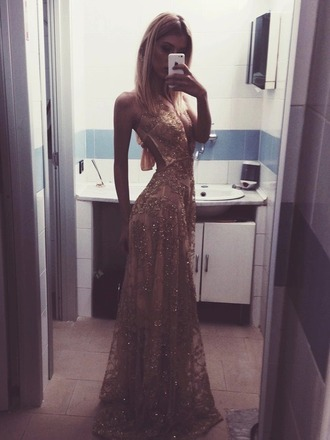 dress prom dress long prom dress long dress gold dress backless dress sequin prom dress