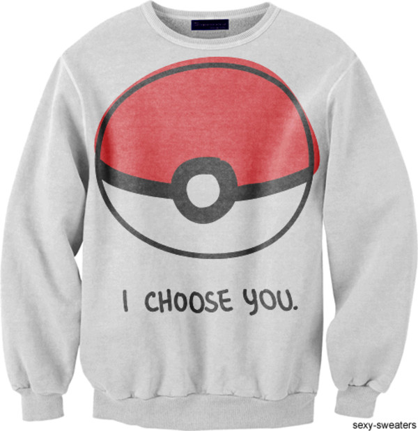 sweater pokemon pokeball anime hipster swag crewneck