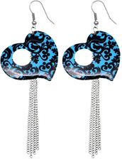 jewels,heart earrings,long earrings,candyluxx,chunky chain earrings,tassel dangle earrings