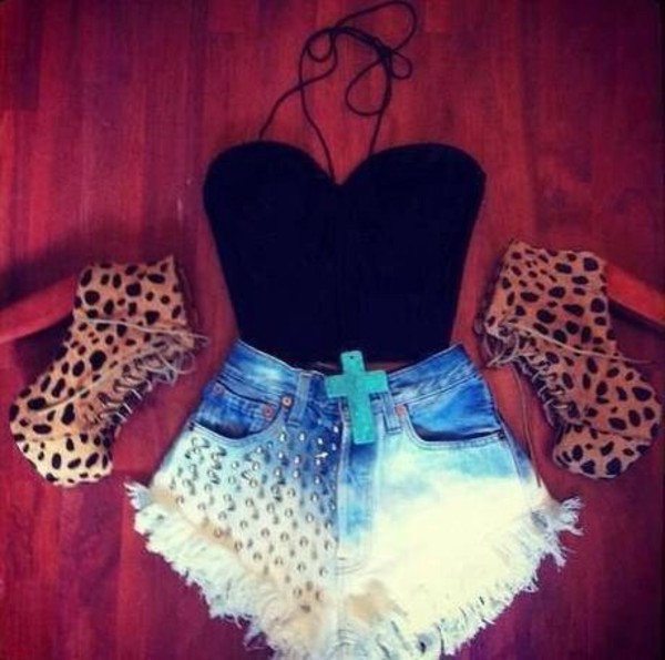 shorts shoes shirt jewels blouse top crop tops cute shorts