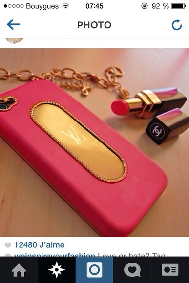 yves saint laurent jewels gold iphone coque pink