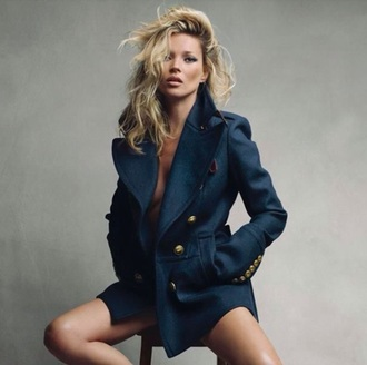coat trench coat kate moss model