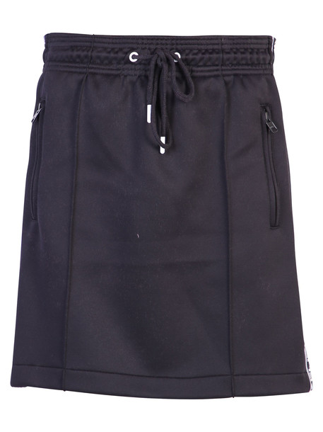 Kenzo Logo Bands Cotton Skirt in black