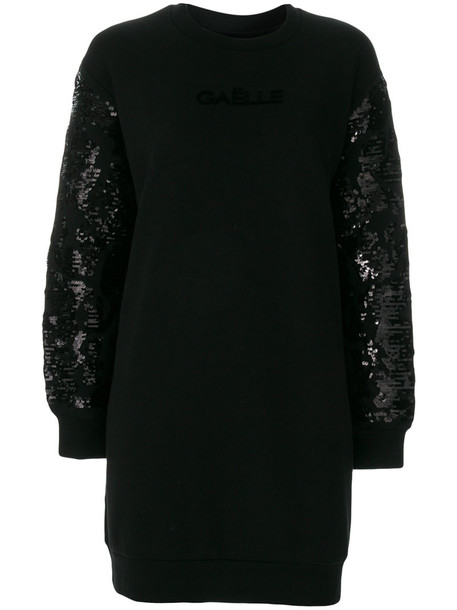 dress embellished dress women embellished cotton black sequins