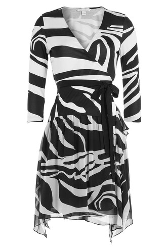 dress wrap dress silk multicolor