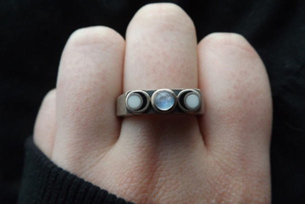 Jewels Ring Jewel Tumblr Silver Ring Silver Jewelry Moon Ring Moon Jewelry Rings