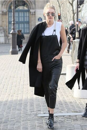overalls gigi hadid shoes