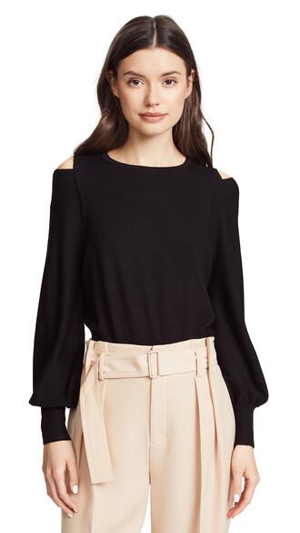 sweater slit black