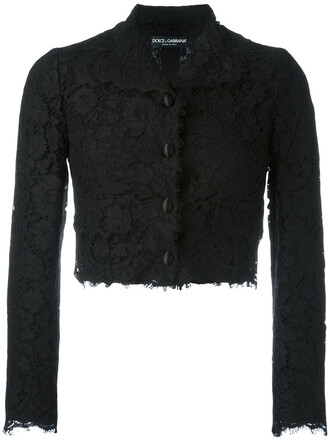 jacket cropped women lace cotton black silk