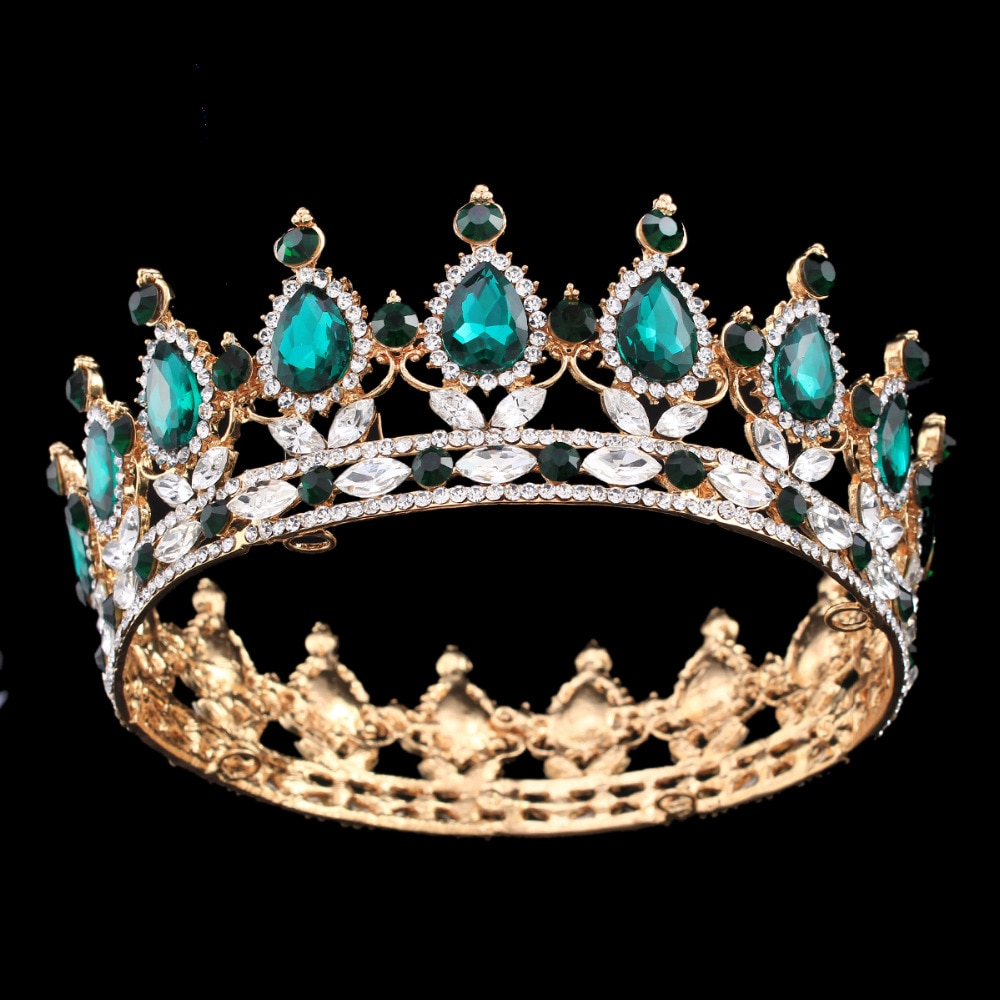 US $15.74 30% OFF|Pageant Full Circle Tiara Clear Austrian Rhinestones King / Queen Crown Wedding Bridal Crown Costume Party Art Deco-in Hair Jewelry from Jewelry & Accessories on Aliexpress.com | Alibaba Group