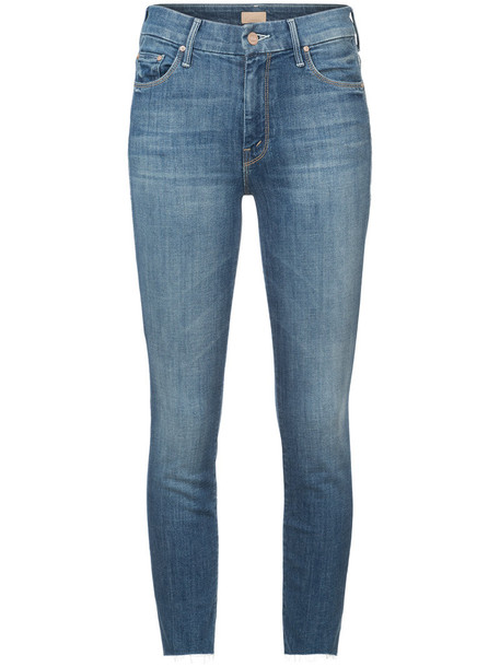 Mother jeans skinny jeans women spandex cotton blue