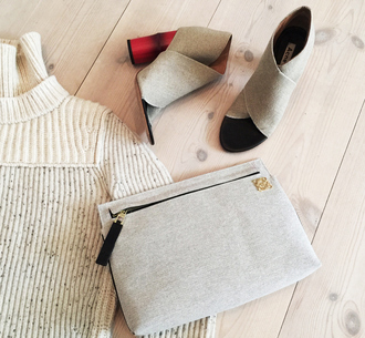 look de pernille blogger classy peep toe knitted sweater celine