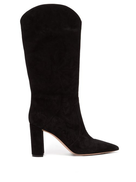 high knee high suede boots suede black shoes